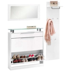 borchardt Möbel Garderoben-Set »Olivia«, (Set, 3-tlg), (3-tlg), stehender Schuhschrank