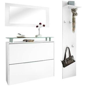 borchardt Möbel Garderoben-Set »Rena 2«, (Set, 3-St), mit Glasablage