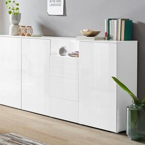 borchardt Möbel Highboard Savannah, Breite 200 cm Einheitsgröße weiß Highboards Kommoden Sideboards