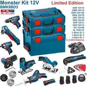 BOSCH BMK9BD3 (GSR 12V-15 + GDR 12V-105 + GKS 12V-26 + GWS 12V-76 + GST 12V-70 + GOP 12V-LI + GSA 12V-14 + GWB 12V-10 + GLI 12V-80 + 3 x 2,0 Ah + GAL1230CV + L-Boxx 238 + L-Boxx 136 + L-Boxx 102)