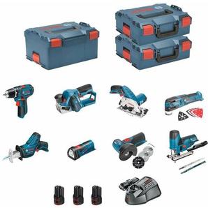 BOSCH Kit 12V BMK8-28FD3 (GSR 12V-15 + GKS 12V-26 + GWS 12V-76 + GST 12V-70 + GOP 12V-28 + GSA 12V-14 + GLI 12V-80 + GHO 12V-20 + 3 x 2,0 Ah + GAL1230CV + 2 x L-Boxx 136 + L-Boxx 238)