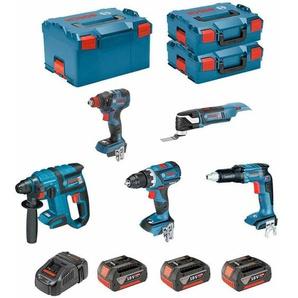 BOSCH Kit ECL5P3BEC2 (GDX 18V-200C + GOP 18V-28 + GSR 18V-EC TE + GBH 18V-EC + GSR 18V-60C + 3 x 5,0Ah + GAL1880CV + 2 x L-Boxx 136 + L-Boxx 238)