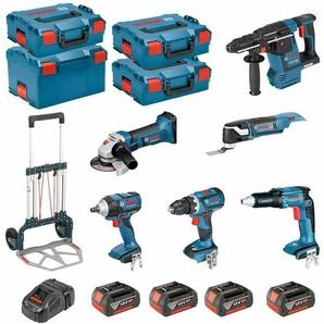 BOSCH Kit PSL6P4MC (GWS 18-125 V-LI + GSR 18V-60C + GOP 18V-28 + GDS 18V-EC 250 + GSR 18V-EC TE + GBH 18V-26F + 4 x 5,0Ah + GAL1880CV + 3 x L-Boxx 136 + L-Boxx 238 + Caddy)