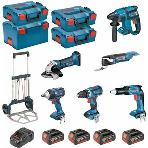 BOSCH Kit PSL6P4MCEC (GWS 18-125 V-LI + GSR 18V-60C + GOP 18V-28 + GDS 18V-EC 250 + GSR 18V-EC TE + GBH 18V-EC + 4 x 5,0Ah + GAL1880CV + 3 x L-Boxx 136 + L-Boxx 238 + Caddy)