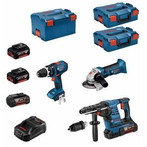 BOSCH Kit RS36183P2 (GBH 36VF-LI Plus + GWS 18-125 V-LI + GSB 18 V-LI + 2 x 4,0 Ah 36V + 2 x 5,0 Ah 18V + L-Boxx 238 + ...)