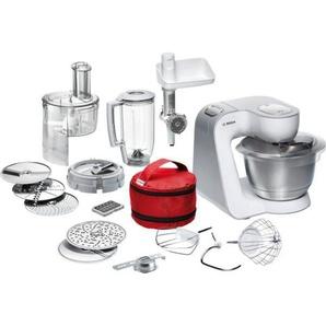 BOSCH Küchenmaschine, weiß, Material Edelstahl