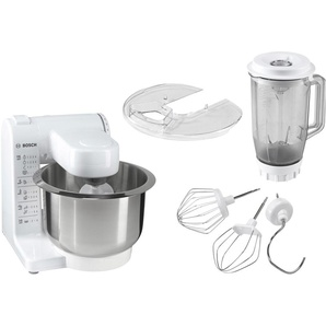 BOSCH Küchenmaschine, weiß, Material Kunststoff / Edelstahl