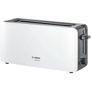 BOSCH Langschlitztoaster  TAT 6A001 - weiß - Metall, Kunststoff - 43,1 cm - 18,8 cm - 12,6 cm | Möbel Kraft