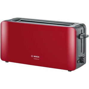 BOSCH Langschlitztoaster  TAT 6A004 - rot - Metall, Kunststoff - 43,1 cm - 18,8 cm - 12,6 cm | Möbel Kraft