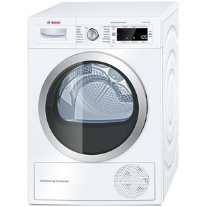BOSCH Wärmepumpentrockner  WTW 875W0 | weiß | Glas , Edelstahl, Metall-lackiert | 59,8 cm | 84,2 cm | 59,9 cm | Möbel Kraft