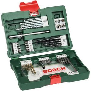 BOSCH Werkzeugset V-Line, (Set, 48 St.), TiN-Bohrer- und Bits mit Magnetstab Kegelsenker 16,6 x 23,6 6,4 cm grün Werkzeugkoffer Werkzeug Maschinen