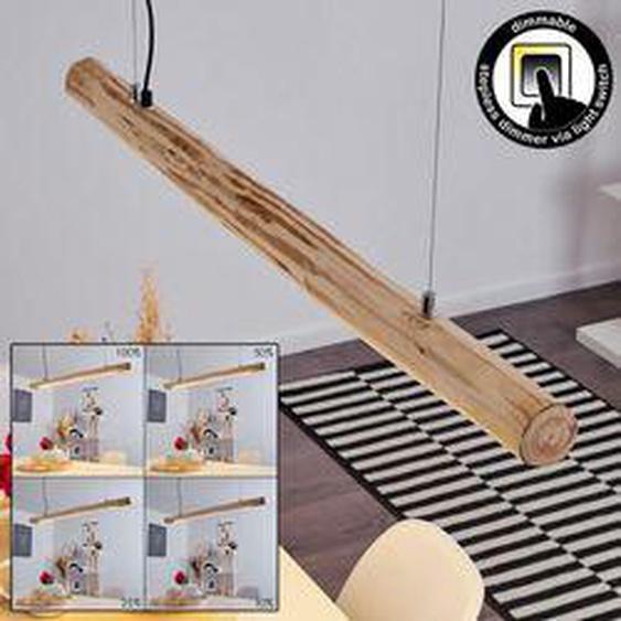 Boulder Pendelleuchte LED Schwarz, Holz hell, 1-flammig - Modern/Landhaus/Rustikal - Innenbereich - versandfertig innerhalb von 2-4 Werktagen