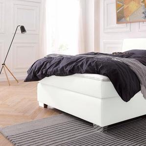 Boxspringbett, weiß, 140x200 cm, Kunstleder, H2, , , Härtegrad 2, Jockenhöfer Gruppe