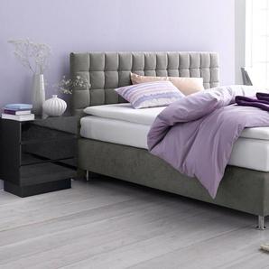 Boxbett, grau, 160x200 cm, Microvelours, H2, , , Härtegrad 2, Westfalia Schlafkomfort
