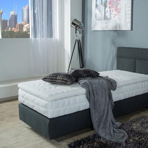 Boxbett, grau, 90x200 cm, Strukturstoff, H2, , , Härtegrad 3, Westfalia Schlafkomfort