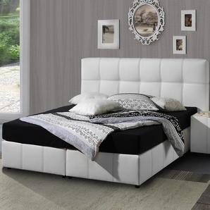 King Size Bett Athen - 180x200 cm - weiß - Härtegrad H2