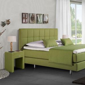 Boxspringbett Einzelbett Bologna - 100x200 cm - grün - H2
