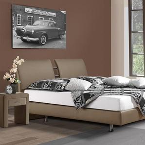 Luxusbett Fernando - 160x200 cm - sandfarben - Härtegrad H2
