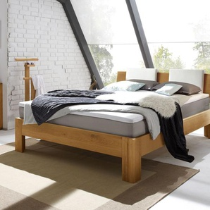 Boxspringbett aus Holz Kingston - 100x200 cm - Eiche natur - H3