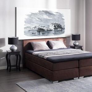 Boxspringbett Kunstleder braun 180 x 200 cm PRESIDENT
