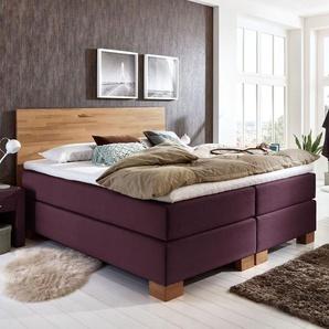 Boxspringbett Peachland, violett, 140x200 cm, H2 bis 90kg - BETTEN.de