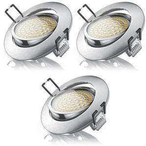 Brandson 3x LED Deckenspot mit Aluminium Druckgussrahmen »warmweiß / schwenkbar / 3,5W / 320Lumen«