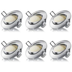 Brandson 6x LED Deckenspot mit Aluminium Druckgussrahmen »Einbaustrahler / Warmweiß / schwenkbar«
