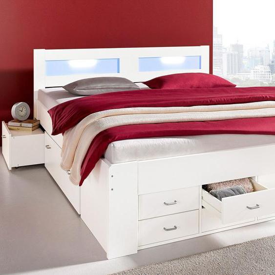 Futon-Bett, weiß, Material Baumwolle / Polyester / Polypropylen