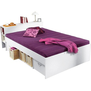 Breckle Stauraum-Bett, weiß