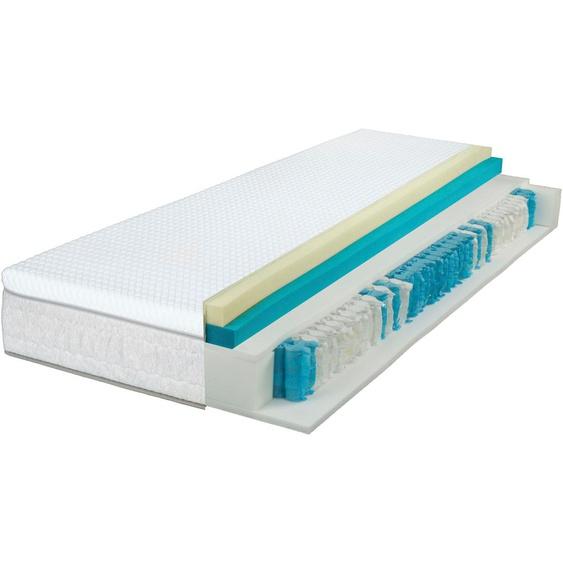 Breckle Taschenfederkernmatratze EvoX Feel 1000, 630 Federn, (1 St.), 3in1 Konzept, 3 Festigkeiten in einer Matratze ** 23, belastbar bis 120 kg, 1x 100x200 cm, ca. 27 cm weiß Taschenfederkern Federkernmatratzen Matratzen