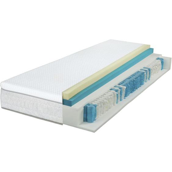Breckle Taschenfederkernmatratze EvoX Feel 1000, 630 Federn, (1 St.), 3in1 Konzept, 3 Festigkeiten in einer Matratze ** 23, belastbar bis 120 kg, 1x 80x200 cm, ca. 27 cm weiß Taschenfederkern Federkernmatratzen Matratzen