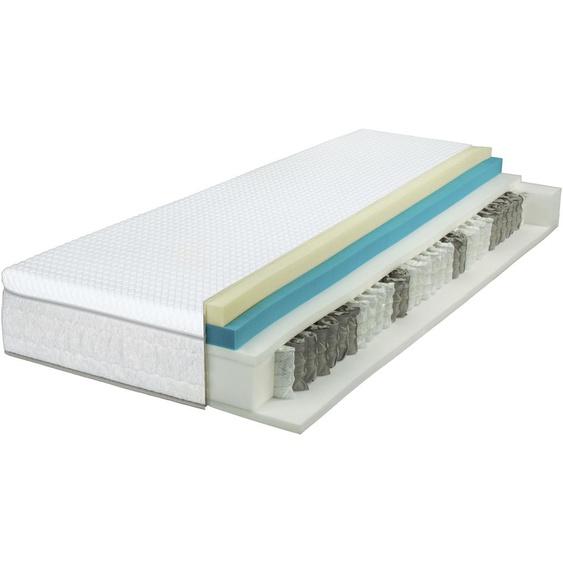 Breckle Taschenfederkernmatratze EvoX Feel 500, 500 Federn, (1 St.), 3in1 Konzept, 3 Festigkeiten in einer Matratze ** 23, belastbar bis 120 kg, 1x 120x200 cm, ca. 27 cm weiß Taschenfederkern Federkernmatratzen Matratzen