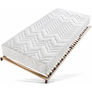 Breckle Set: Taschenfederkernmatratze + Lattenrost »Tendenz K«, 80x190 cm, Ca. 24 cm hoch, 0-80 kg