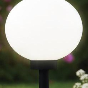 Brema 123139 Kunststoff-Solar-Leuchtkugel mit Erdspieß und Verlängerungsstiel