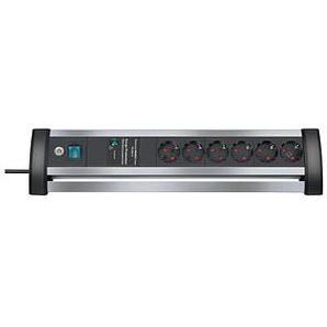 brennenstuhl Alu-Office-Line 6-fach Steckdosenleiste mit Überspannungsschutz schwarz