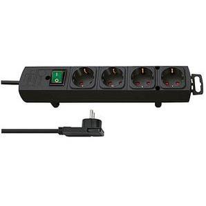 brennenstuhl Comfort-Line Plus 4-fach Steckdosenleiste mit Schalter schwarz