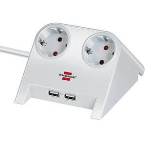 brennenstuhl Desktop-Power USB-Charger 2-fach Tischsteckdose weiß