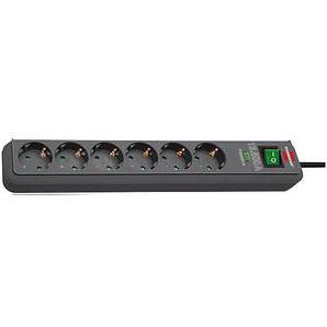 brennenstuhl Eco-Line 6-fach Steckdosenleiste mit Überspannungsschutz schwarz