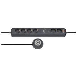 brennenstuhl Eco-Line Comfort Switch Plus 6-fach Steckdosenleiste mit Fußschalter schwarz