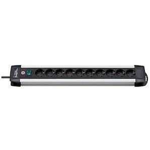 brennenstuhl Premium-Alu-Line 10-fach Steckdosenleiste mit Schalter schwarz