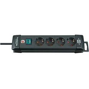 brennenstuhl Premium-Line 4-fach Steckdosenleiste mit Schalter schwarz