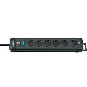 brennenstuhl Premium-Line 6-fach Steckdosenleiste mit Schalter schwarz