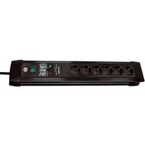 brennenstuhl Premium-Line 6-fach Steckdosenleiste mit Überspannungsschutz schwarz