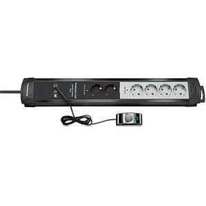 brennenstuhl Premium-Line Comfort Switch Plus 6-fach Steckdosenleiste mit Fußschalter schwarz