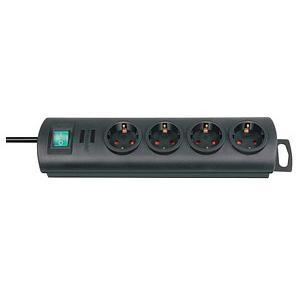 brennenstuhl Primera-Line 4-fach Steckdosenleiste mit Schalter schwarz