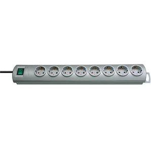 brennenstuhl Primera-Line 8-fach Steckdosenleiste mit Schalter silber