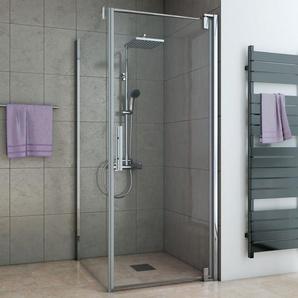 Breuer Dusche Europa Design Seitenwand links 90 cm inkl. CER+ Beschichtung für Drehtür - BREUER GMBH & CO.KG