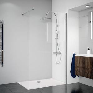 Breuer Dusche Panorama Duschwand alleinstehend - Walk-IN 120 cm inkl. CER+ Beschichtung - BREUER GMBH & CO.KG
