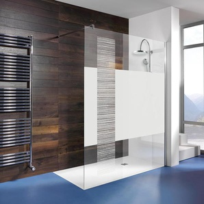Breuer®-Dusche »Entra« Duschwand InStripe - silber -