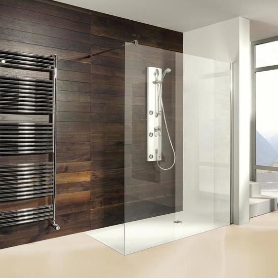 Breuer®-Dusche »Entra« – Duschwand Klarglas - silber -